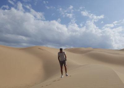 La camara y yo. Desierto del Gobi. Mongolia