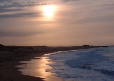 La playa. El país. La Guajira.  Colombia